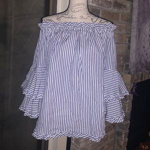 NWOT Bell sleeve off the shoulders blouse